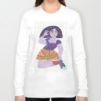 bow Long Sleeve T-shirts featuring Bow Girl by Janna Morton