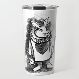 White Rabbit by Coreyartus Travel Mug