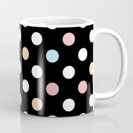 Black & Pastel Dots Coffee Mug