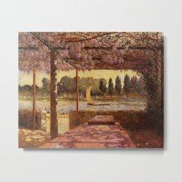 The Trellis by the River by Ferdinand Du Puigaudeau Metal Print