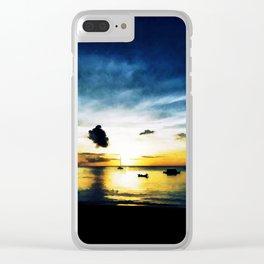 tobago sunset I Clear iPhone Case