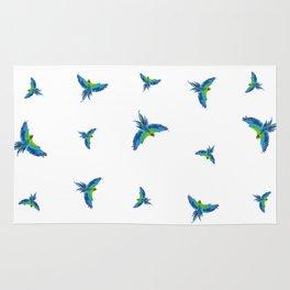 Blue parrots Rug