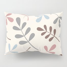 Assorted Leaf Silhouettes Pastel Colors Pillow Sham