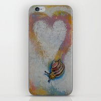 snail iPhone & iPod Skins featuring Snail by Michael Creese