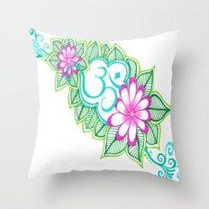 Om Sharpie Doodle Throw Pillow