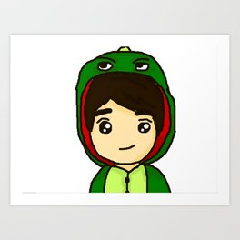 Danisnotonfire the Dinosaur Art Print