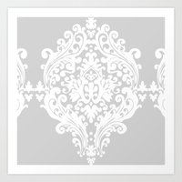 damask Art Prints featuring Damask by My Studio