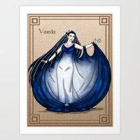 valar morghulis Art Prints featuring Varda by wolfanita