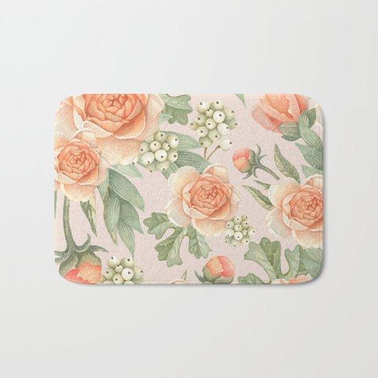 Flowered nature Bath Mat