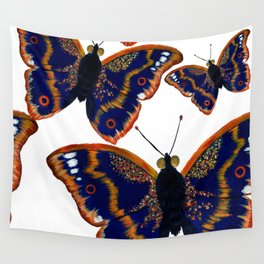 Purple Emperor Butterflies Wall Tapestry