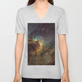 Cave Nebula SH2-155 Unisex V-Neck