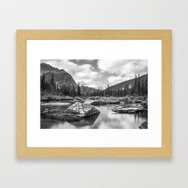 Consolation Lakes, Canada Framed Art Print