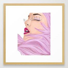 She feels like a unicorn Framed Art Print