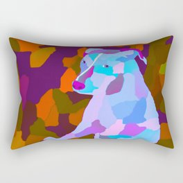 Camouflage Petra the pitbull version three Rectangular Pillow