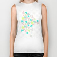 candy Biker Tanks featuring Candy by Louise Machado