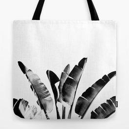 Traveler palm - bw Tote Bag