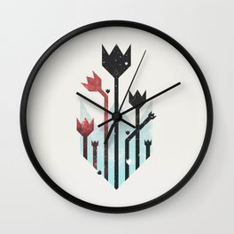 Space Tulips Wall Clock