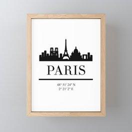 PARIS FRANCE BLACK SILHOUETTE SKYLINE ART Framed Mini Art Print