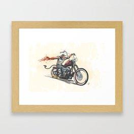Devil's Ride Framed Art Print