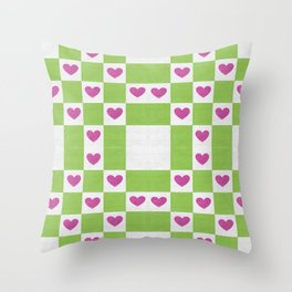 VALENTINES FABRIC PATTERN Throw Pillow