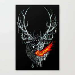 Rudolph Commands Thee Canvas Print