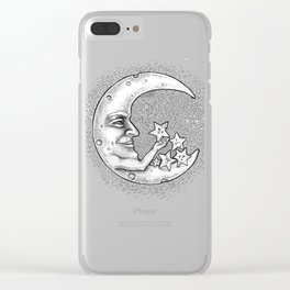 the Moon - Star doctor Clear iPhone Case