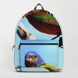 Male Painted Bunting Backpack