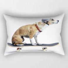 Skate Punk - Skateboarding Chihuahua Dog inTiny Helmet Rectangular Pillow