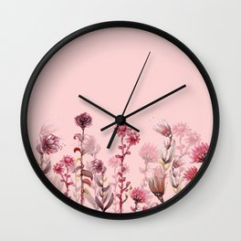 For Her ! Pink Flowers Wall Clock