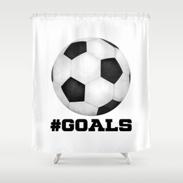#Goals Shower Curtain