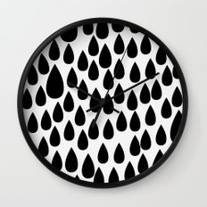 Black drops Wall Clock