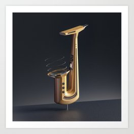 Jazzy Letter J Art Print