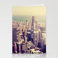 metropolis Stationery Cards featuring Metropolis by farsidian