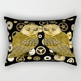 Cogs and Owls Rectangular Pillow