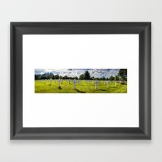 NORMANDY AMERICAN CEMETERY AND MEMORIAL Framed Art Print