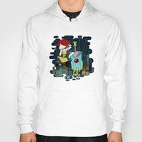 transistor Hoodies featuring Transistor Welcome to Cloudbank by Cycha