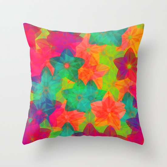In love with colors Throw Pillow