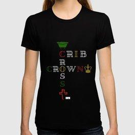 The Royal Birth: Crib Cross Crown White T-shirt