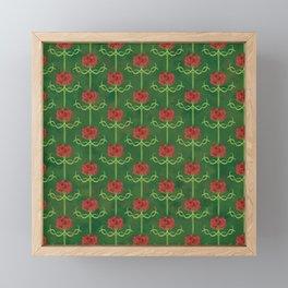 Spring Roses Pattern Framed Mini Art Print