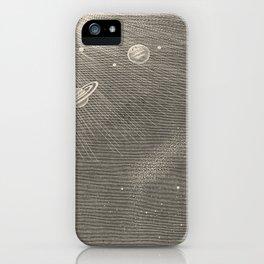 Solar System Ink Line Illustration iPhone Case