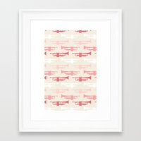 trumpet Framed Art Prints featuring Trumpet by Background Labs