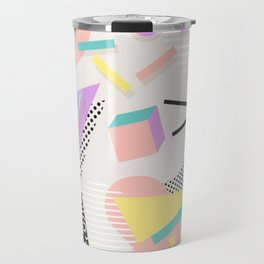 80s / 90s RETRO ABSTRACT PASTEL SHAPE PATTERN Travel Mug