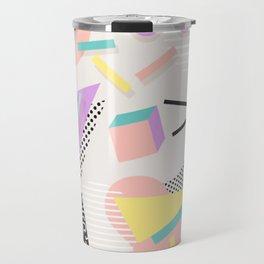 80s / 90s RETRO ABSTRACT PASTEL SHAPE PATTERN Travel Mug