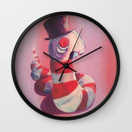 Leech with Top Hat Wall Clock