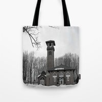poland Tote Bags featuring Poland Springs Museum by Catherine1970