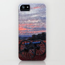 Gettysburg Cannon Sunset - Ruby Rapture iPhone Case