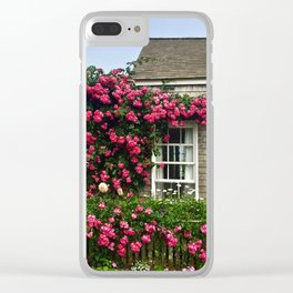 Rose House in Sconset Nantucket Clear iPhone Case