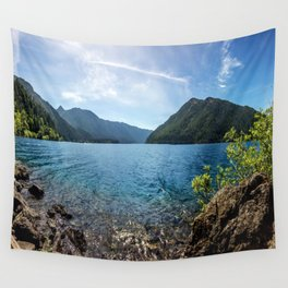 Lake Crescent Olympic Mountain Pano Wall Tapestry