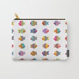 Fishes colorful fun graphic pattern design Carry-All Pouch
