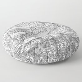 Hong Kong. Kowloon Walled City Floor Pillow